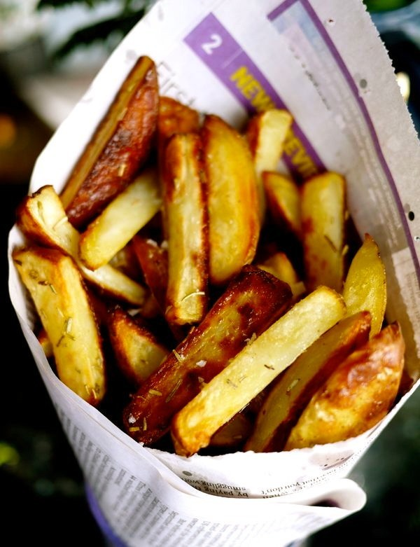 Heston's Triple Cooked Chips // Rosie's Once Cooked Chips - The ...