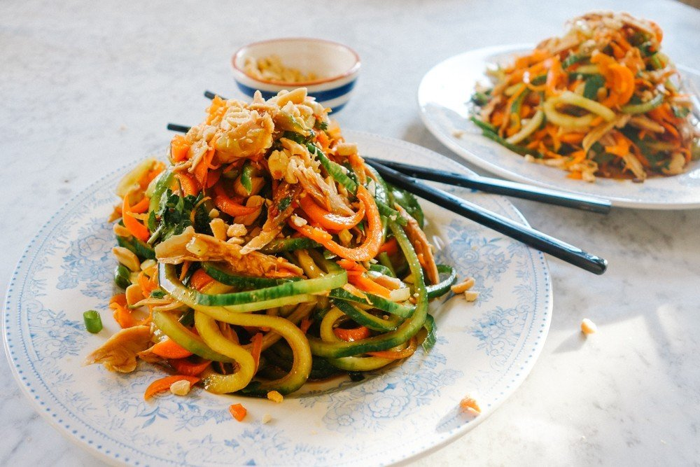 Pad Thai Salad (Low Carb!) - The Londoner