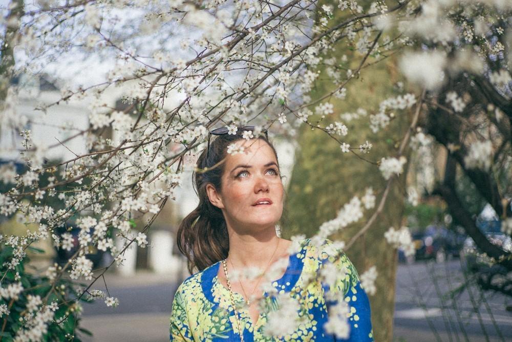 Boden Spring Summer Blue Yellow Dress-8