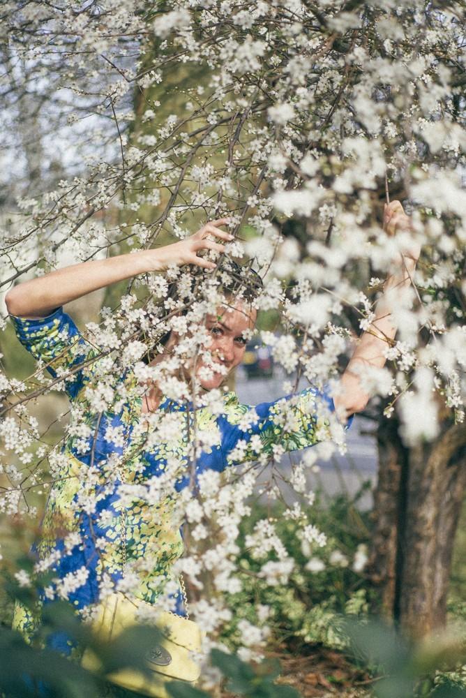 Boden Spring Summer Blue Yellow Dress-9