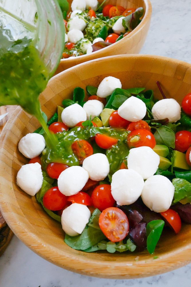 Caprese Salad + Pesto Dressing Recipe-10