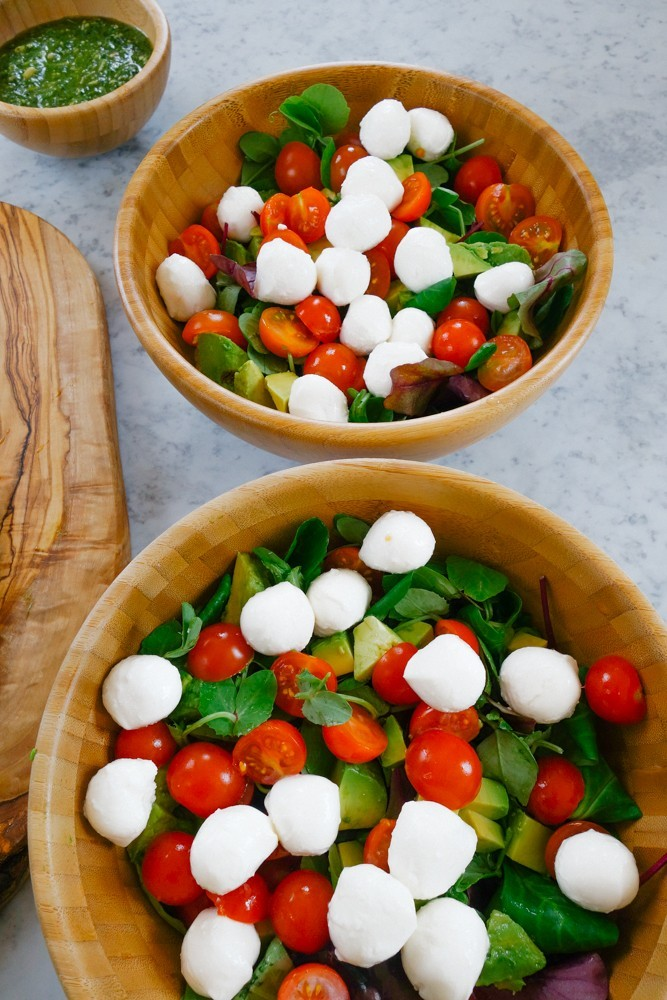 Caprese Salad + Pesto Dressing Recipe-5