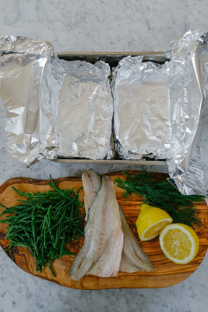 Steamed Fish and Samphire Parcels-1