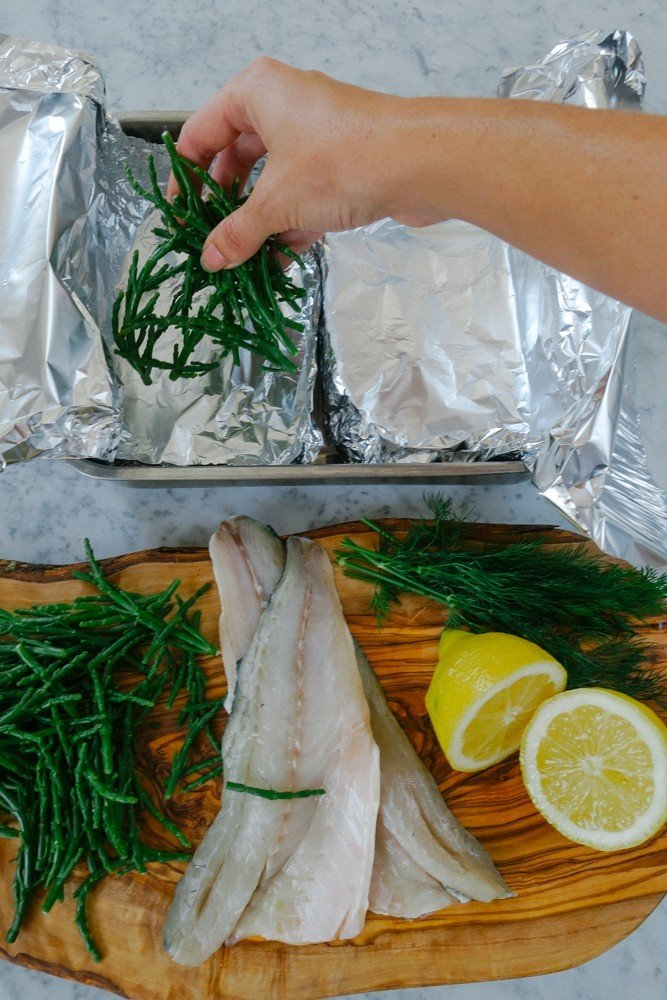 Steamed Fish and Samphire Parcels-2