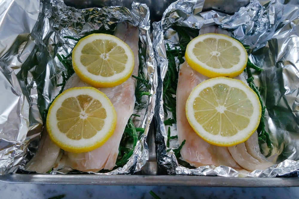 Steamed Fish and Samphire Parcels-8