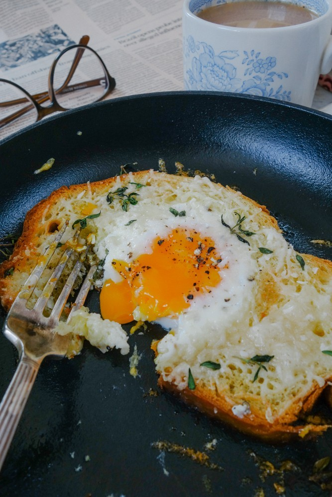 Truffle Parmasan Egg in A Hole-16