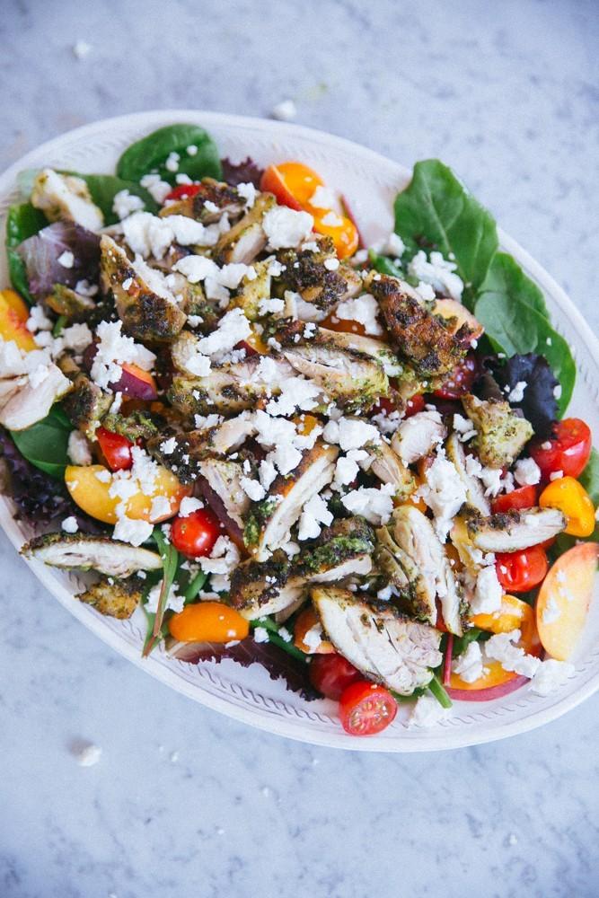 pesto chicken salad-22