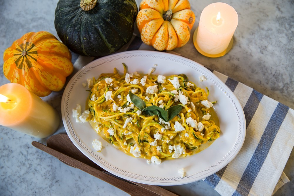 Low carb pumpkin sage courgetti recipe-1