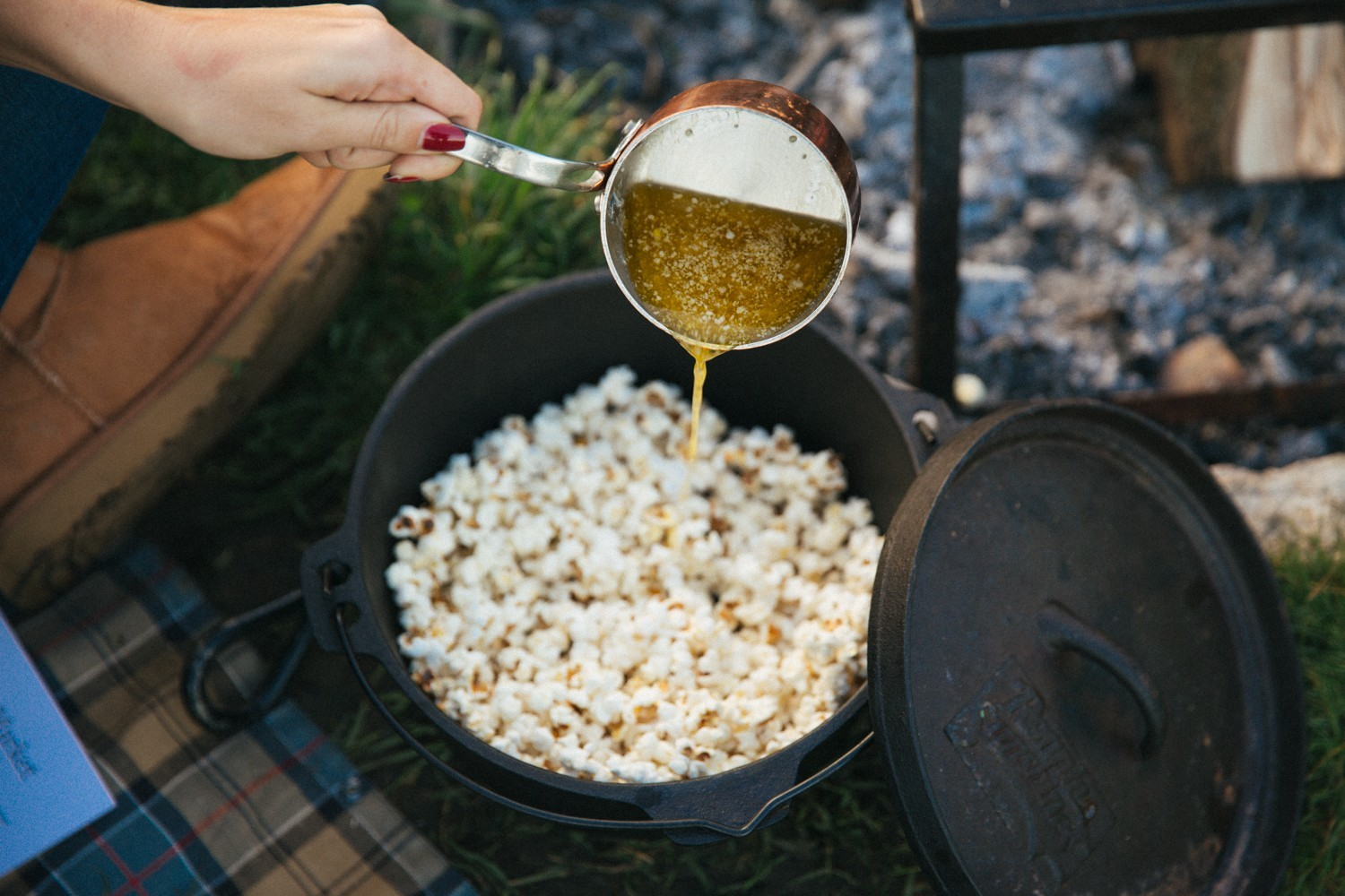 Melted butter popcorn