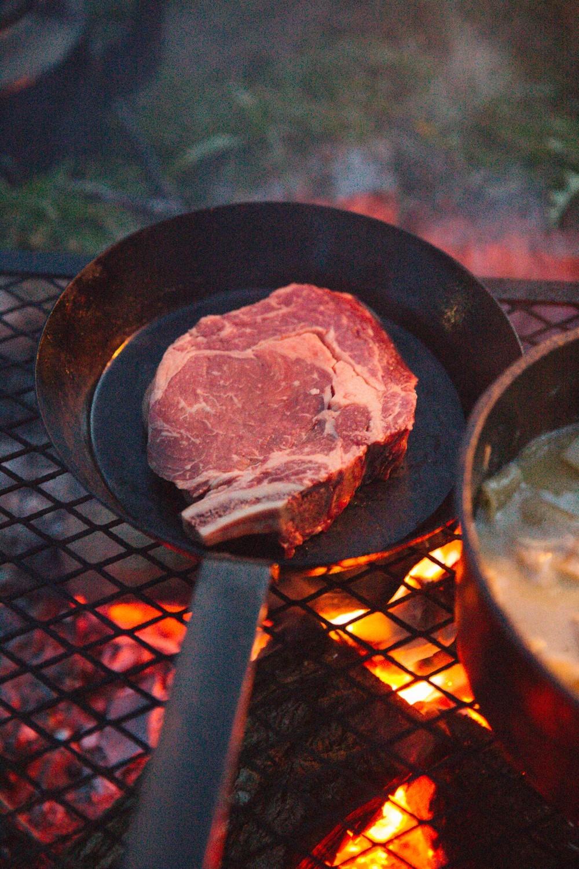 Campfire steak
