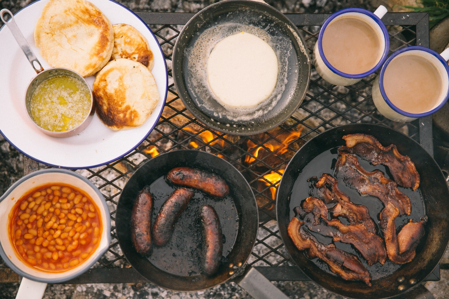 Campfire full English WITH PANCAKES!