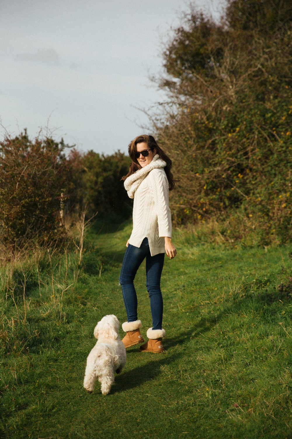 Cosy knits, skinny jeans and warm boots
