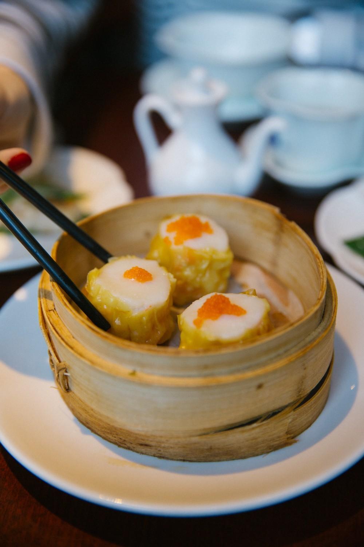 Scallop dumplings
