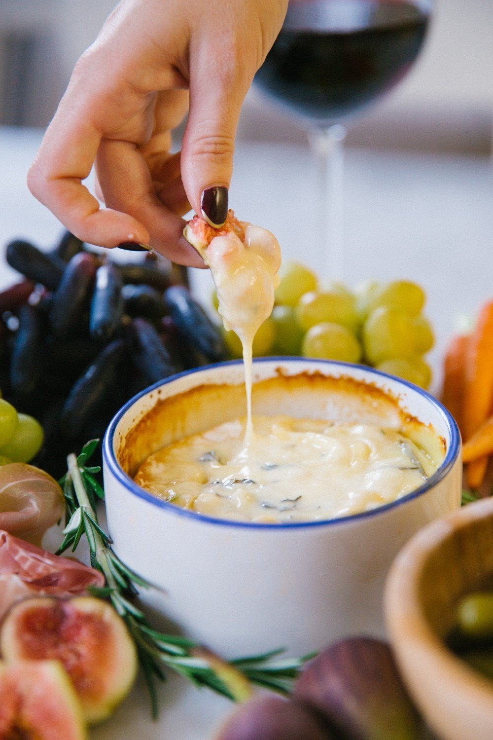 Herb and honey baked camembert-1