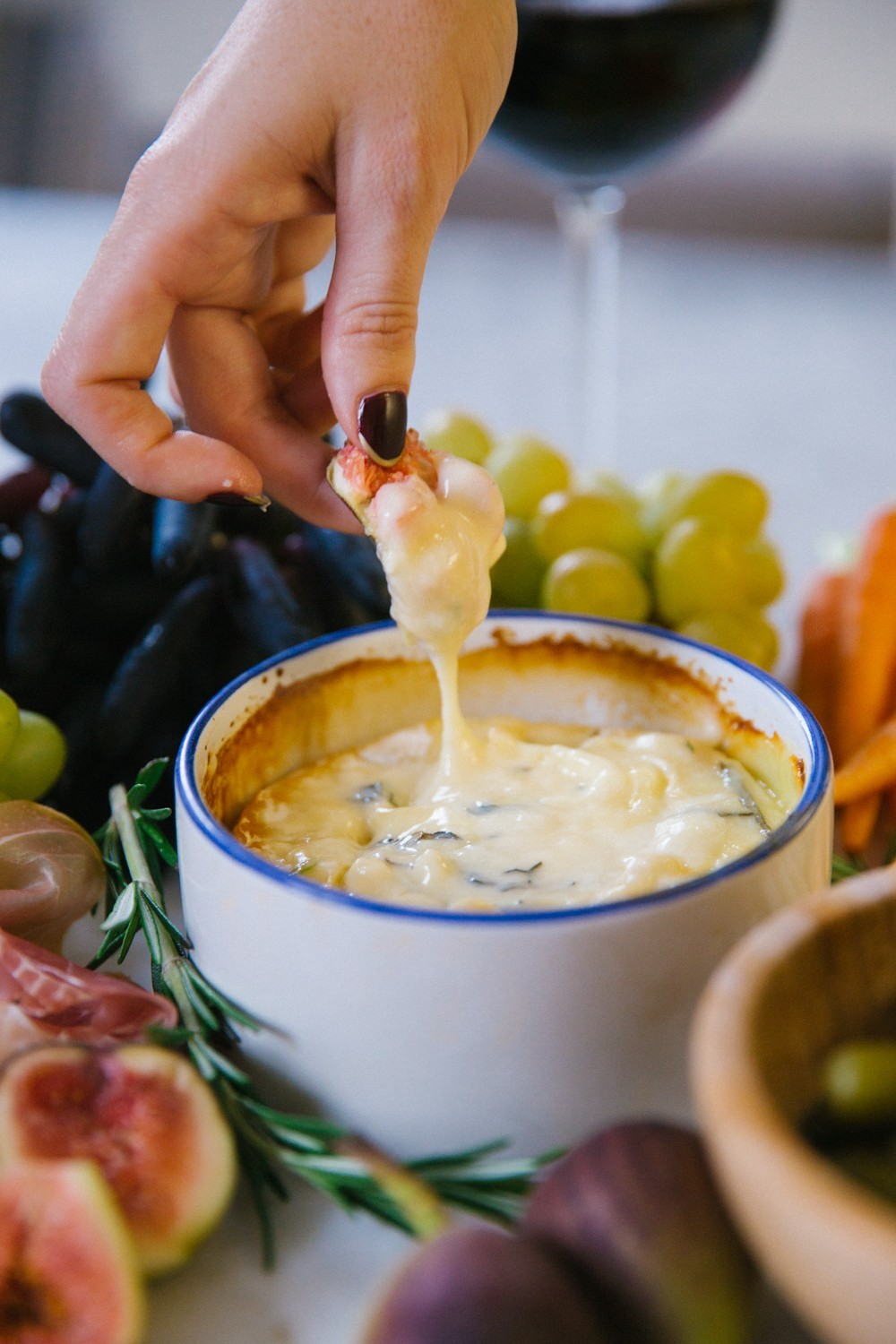 Herb and honey baked camembert-10