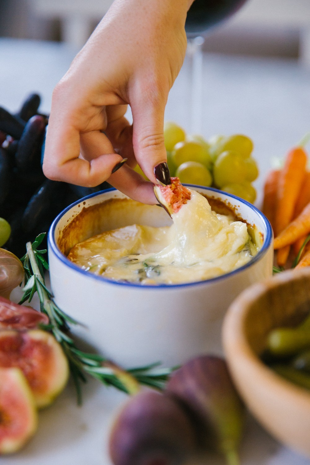 Herb and honey baked camembert-9