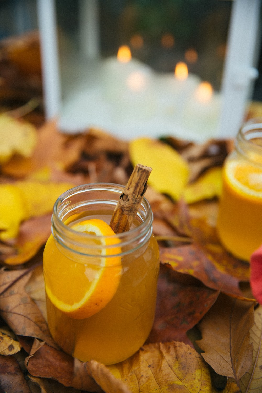 Mulled cider and candles