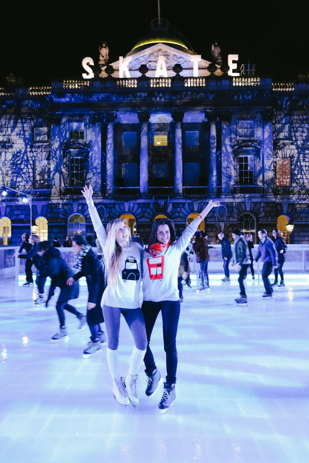 Christmas skating in London