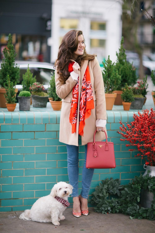 Festive Red Prada Bag