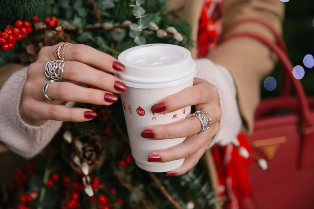 Silver Rings and Red Nails