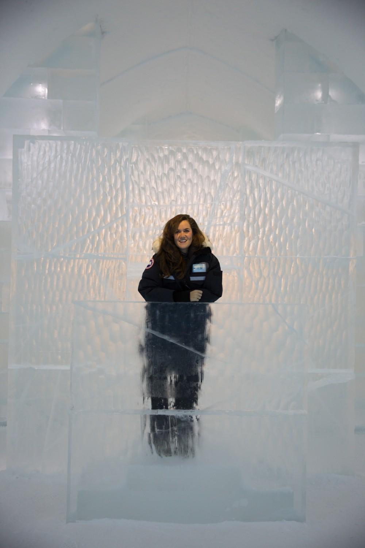 Ice Hotel reception