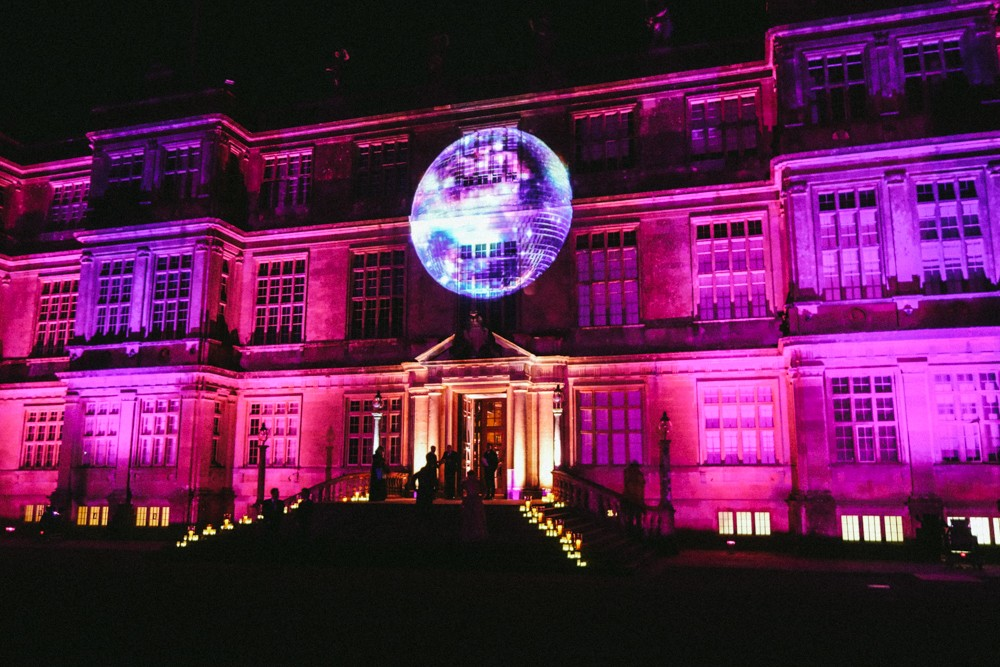 Longleat party - disco hollogram!