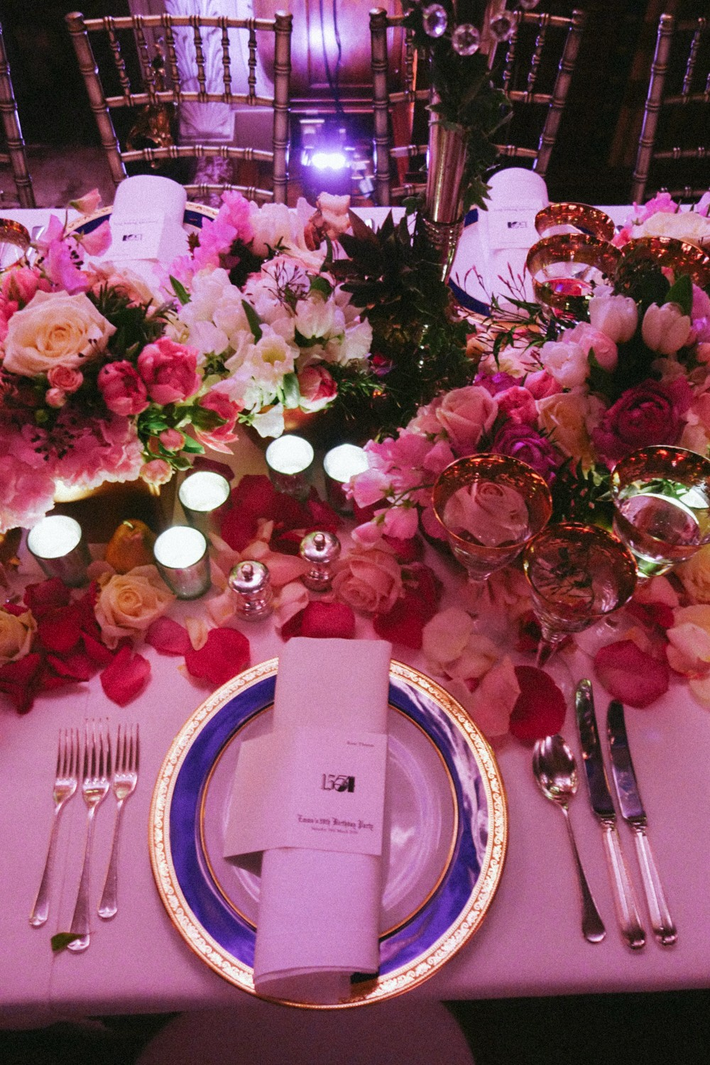 Rose covered table