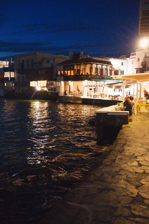 Sunset supper in Mykonos -1