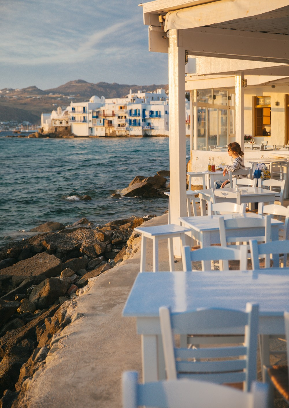 Sunset supper in Mykonos -10