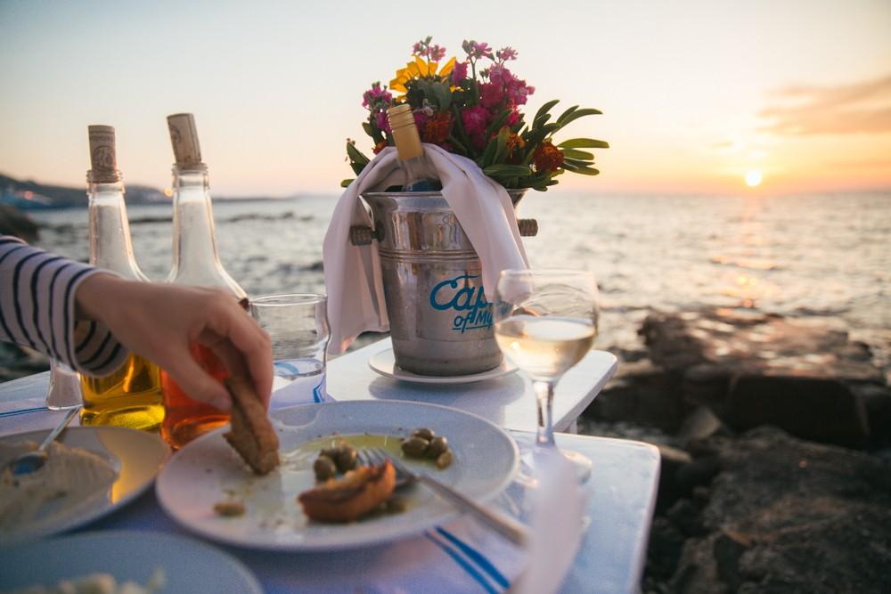 Sunset supper in Mykonos -17
