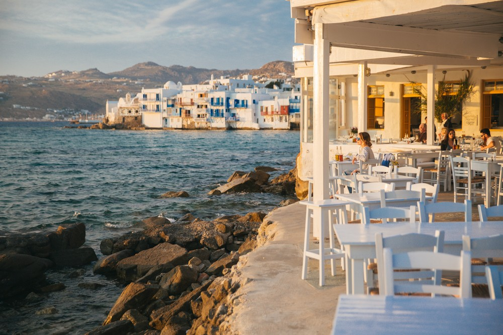 Sunset supper in Mykonos -9