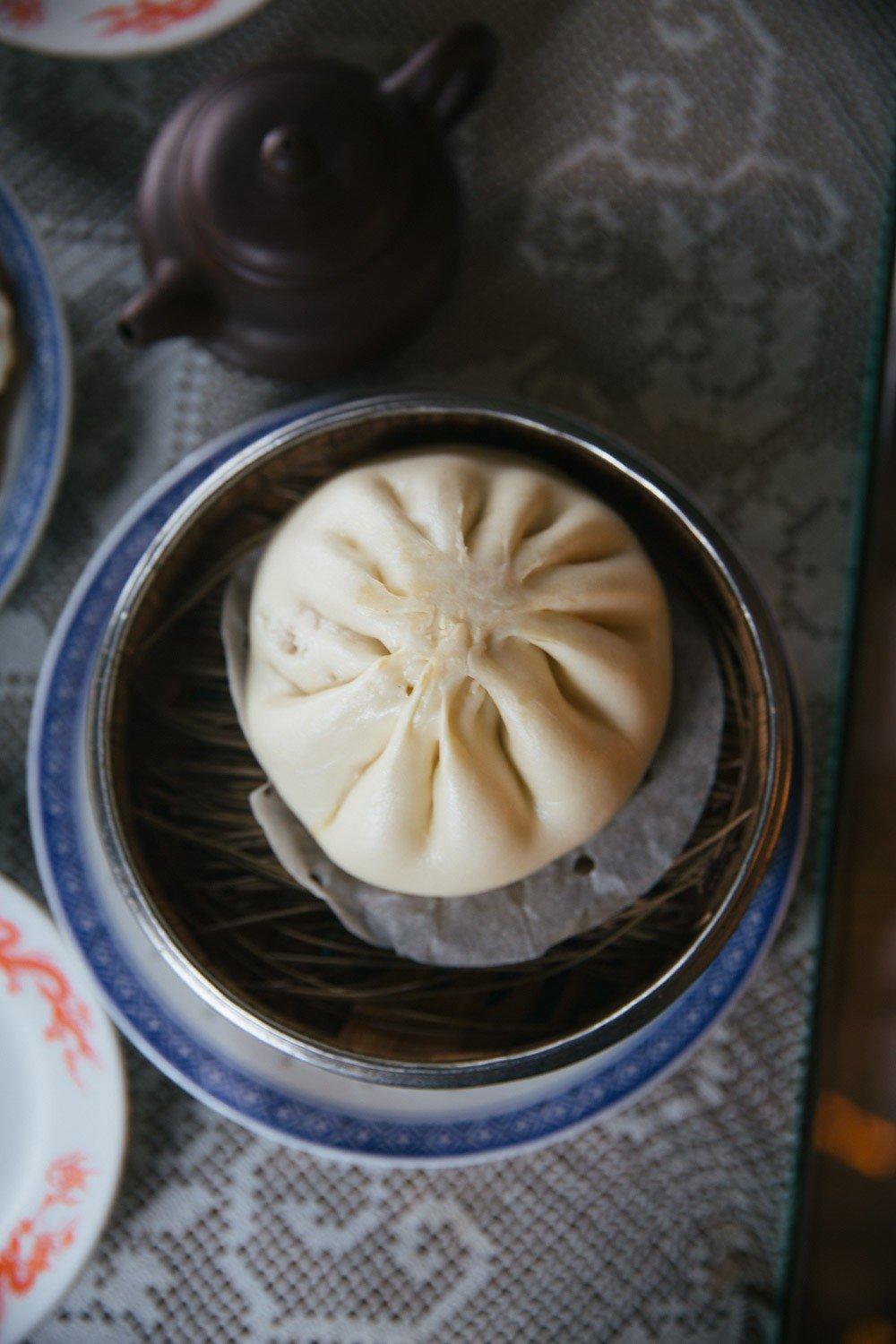 Giant steamed bun