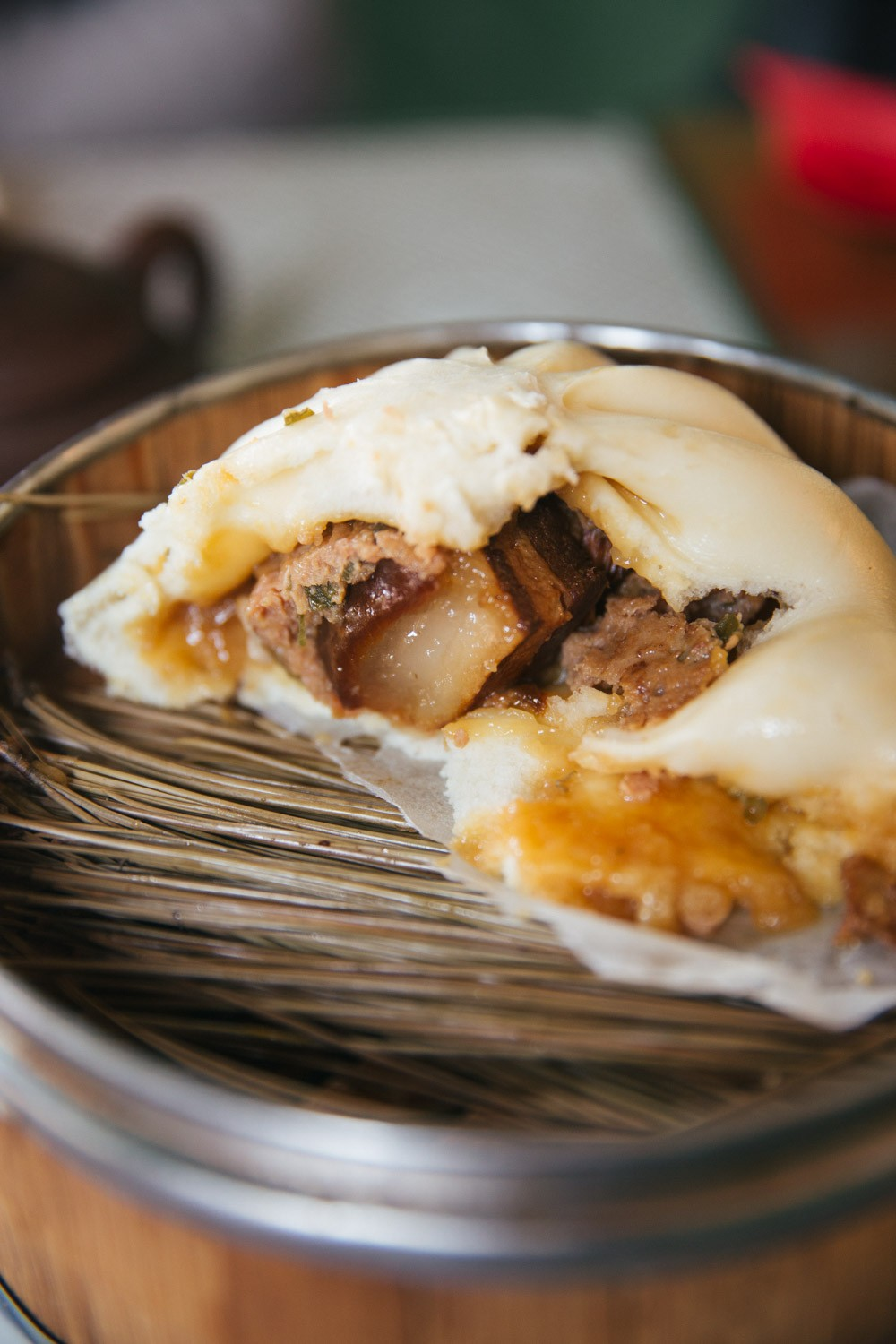 Slow cooked pork bun