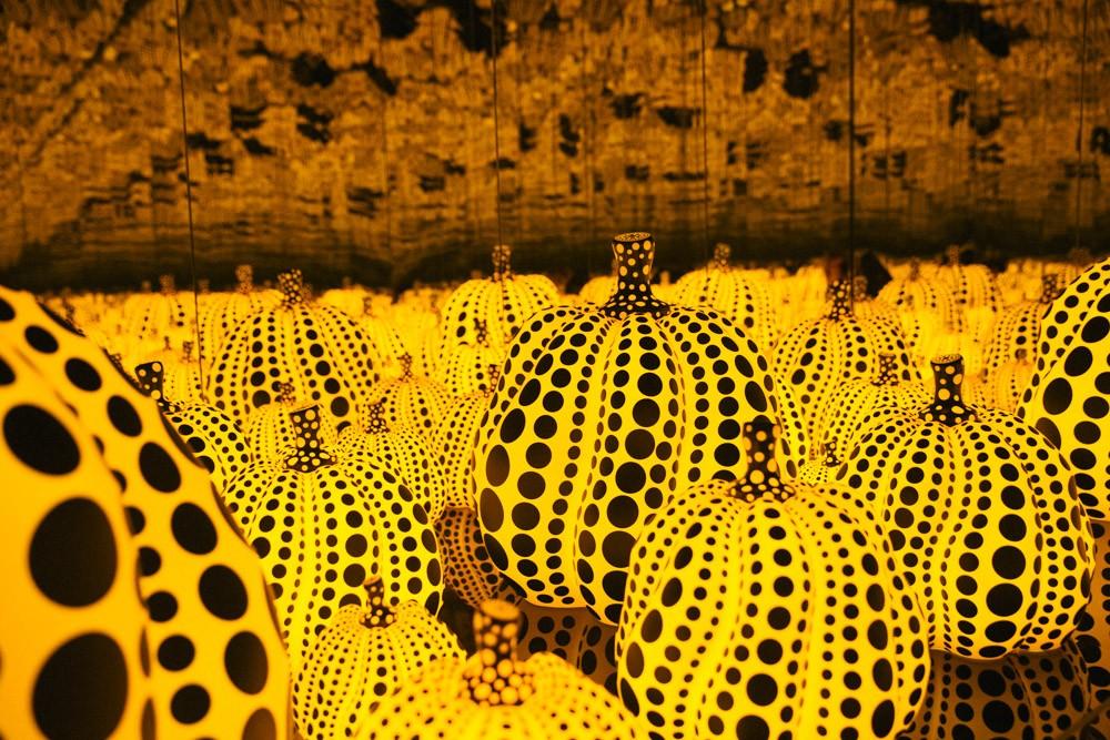 Yayoi Kusama pumpkins