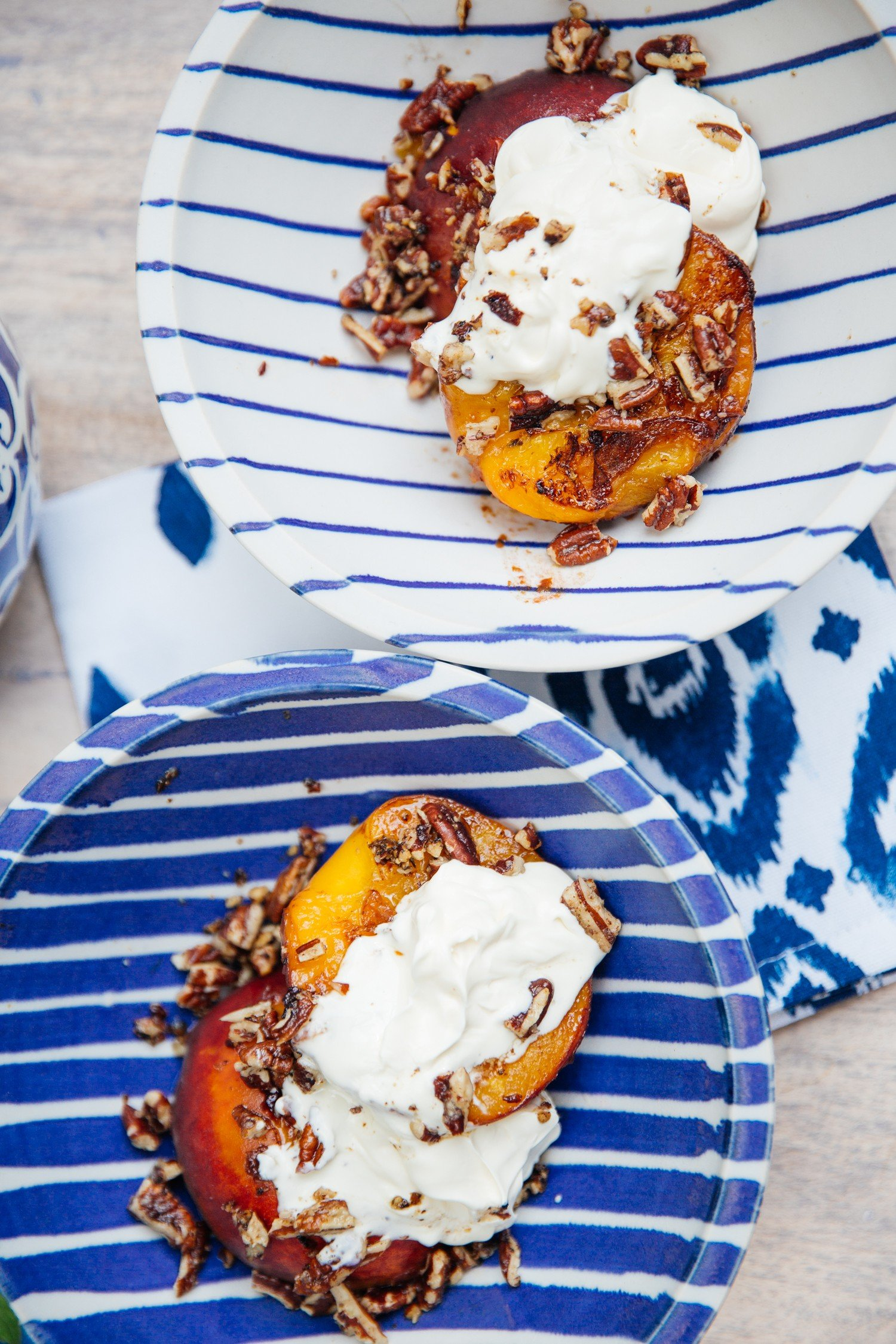 Pecan Peaches - skinny summer dessert