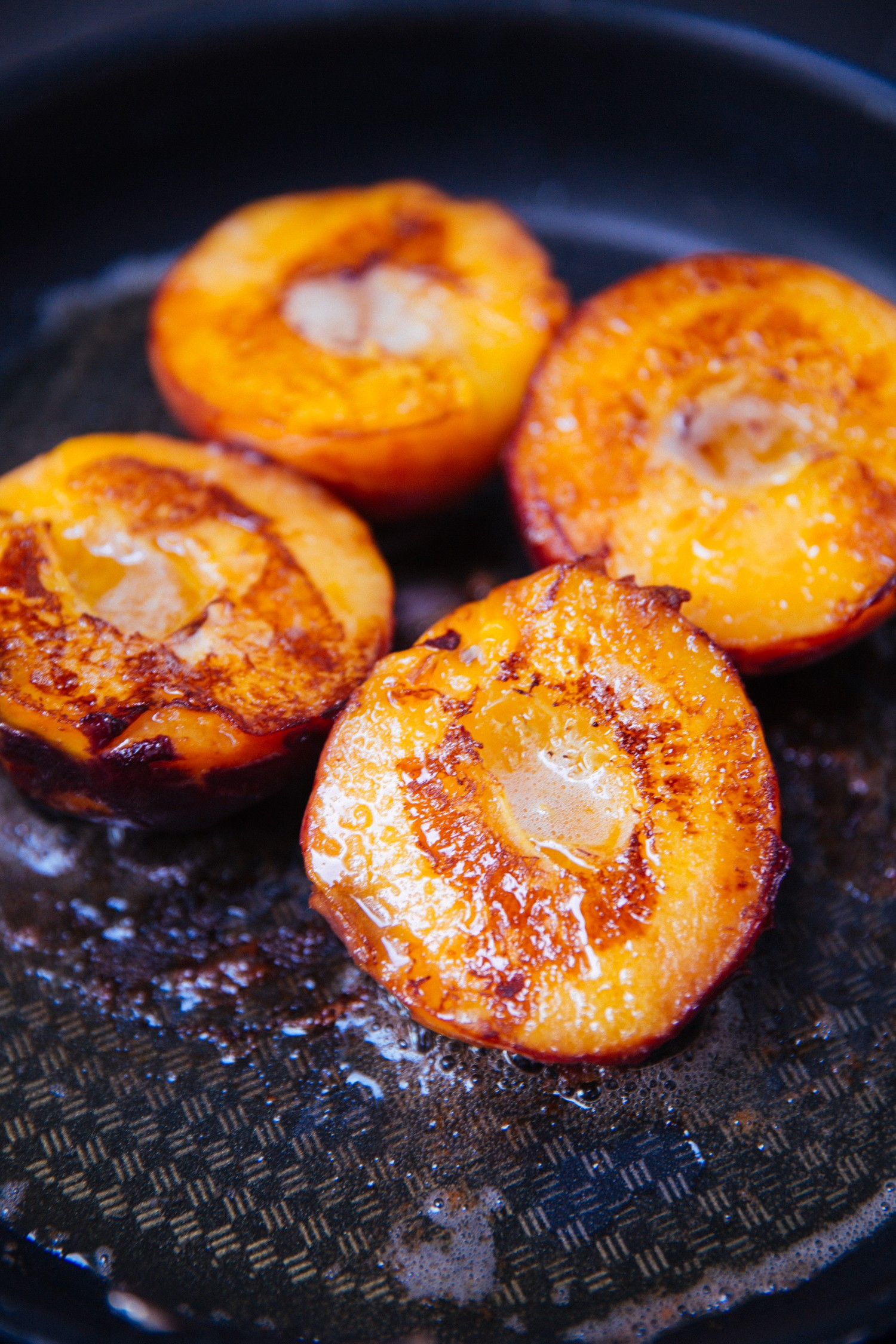 Fried peaches