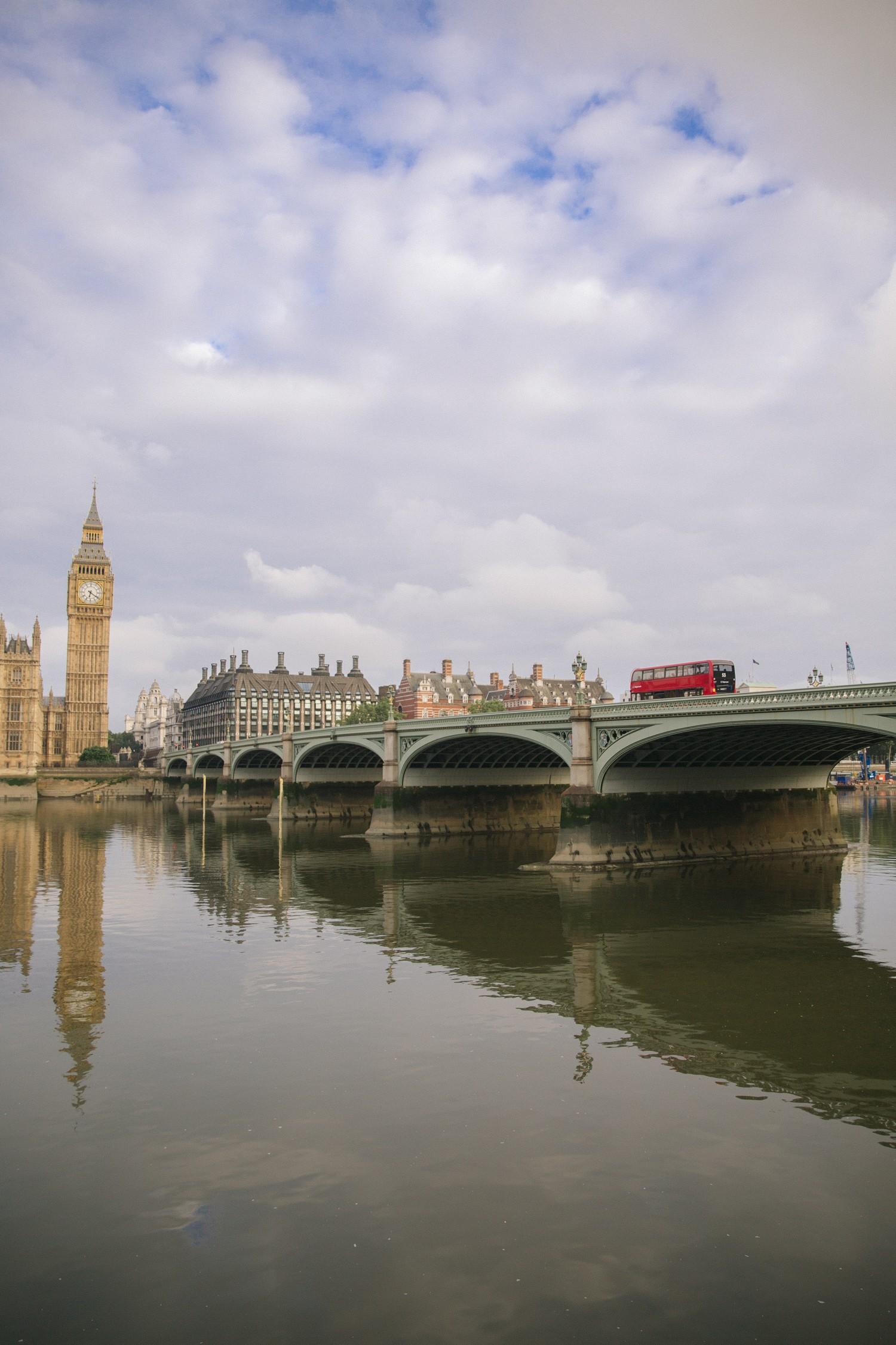 Red Bus on Westminster Bridge