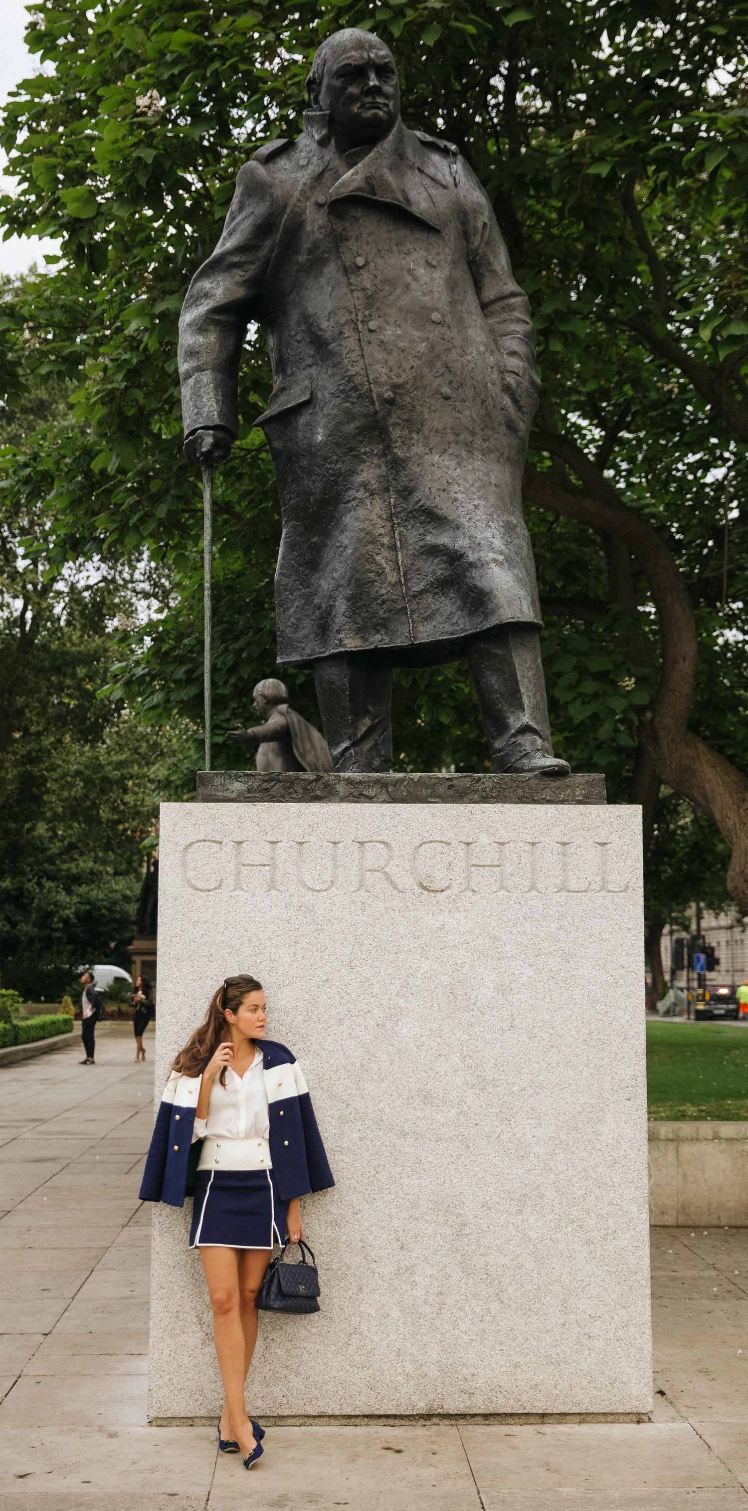 Churchill Statue in London