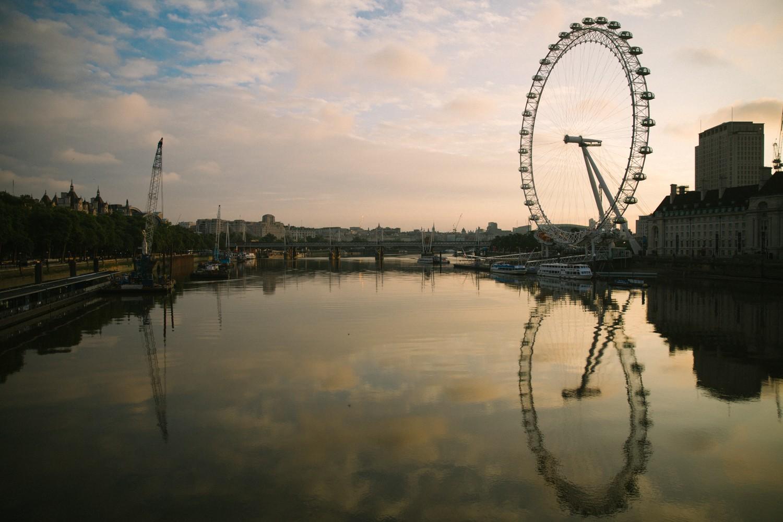 The London Eye at Sunrise