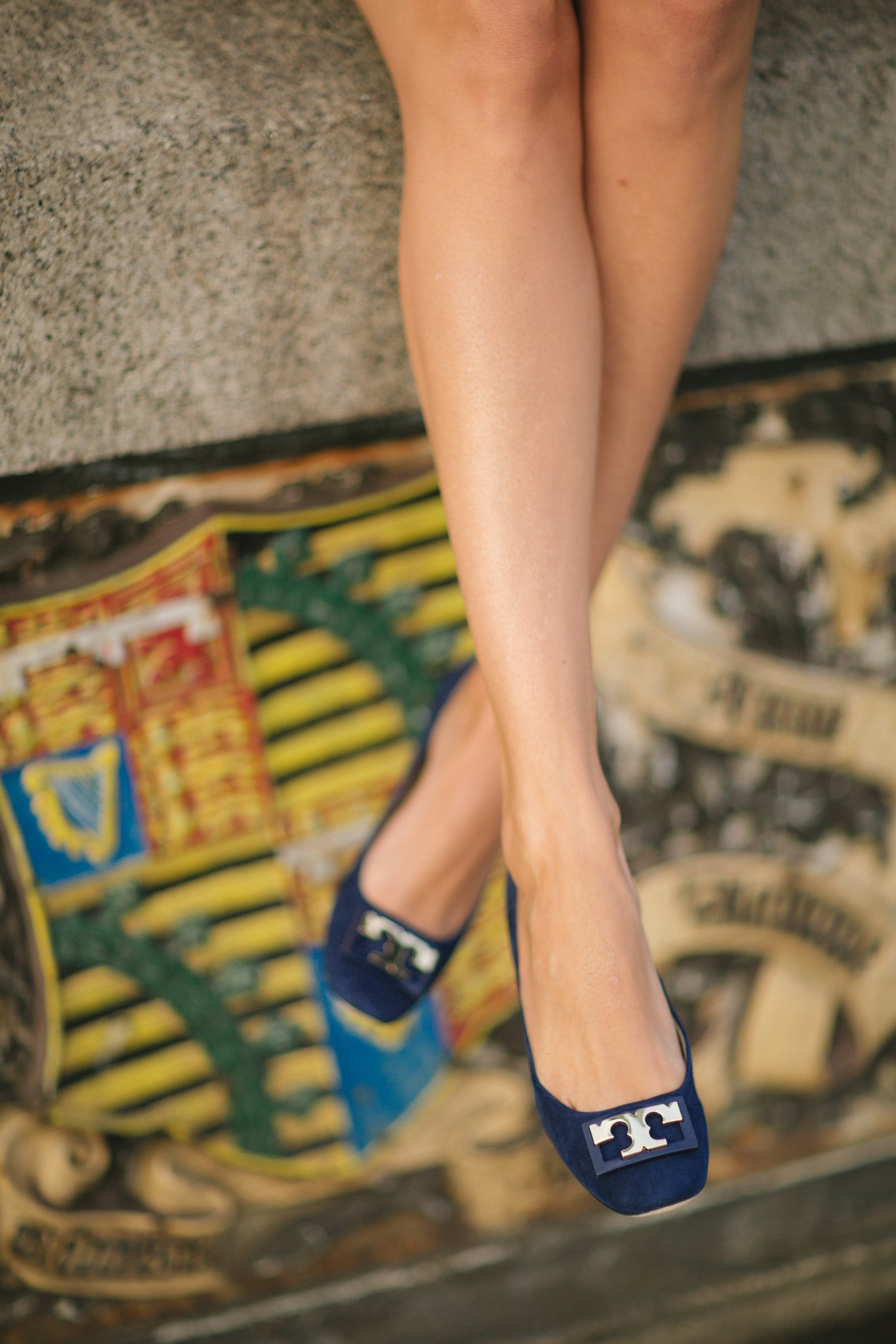 Navy & Gold Pumps