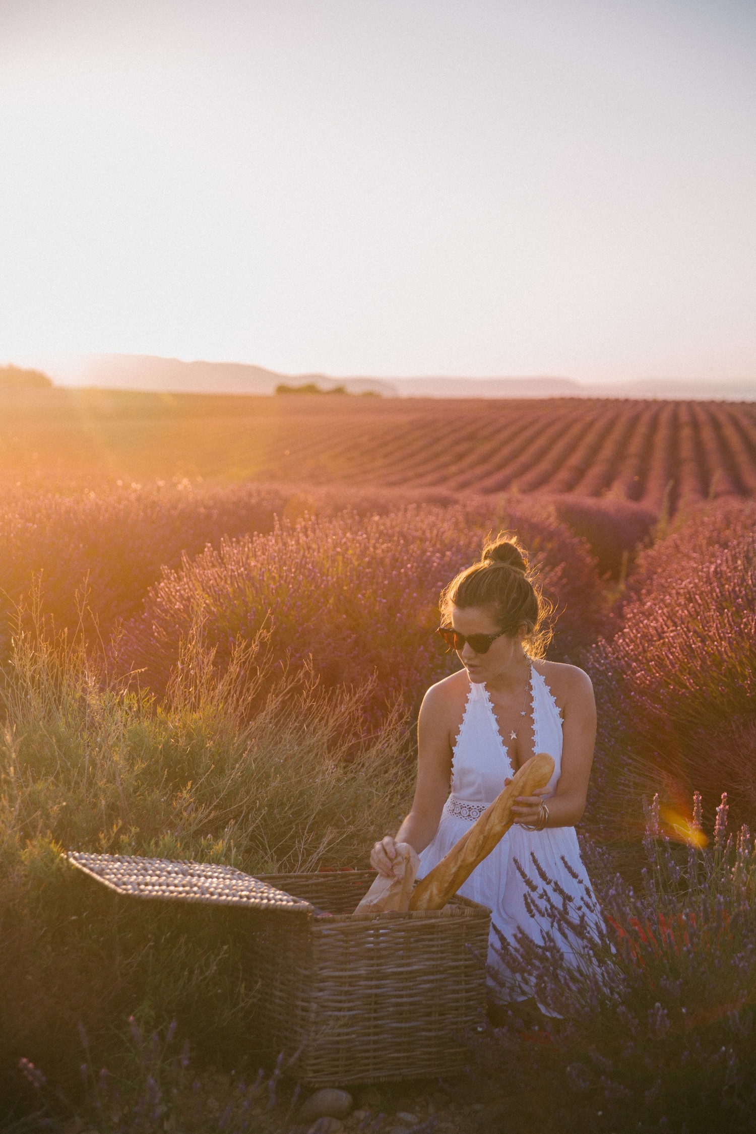 Sunset picnic in Provence