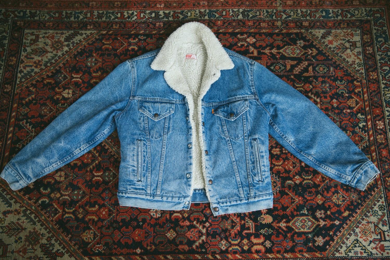 Vintage levis jacket diy