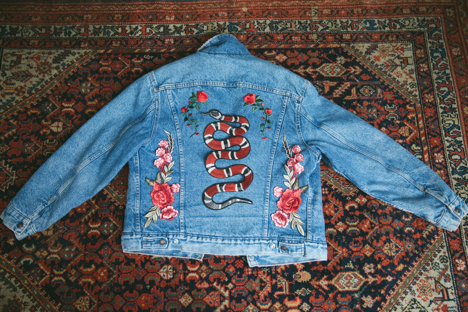 Vintage Levis Jacket Embroidery DIY