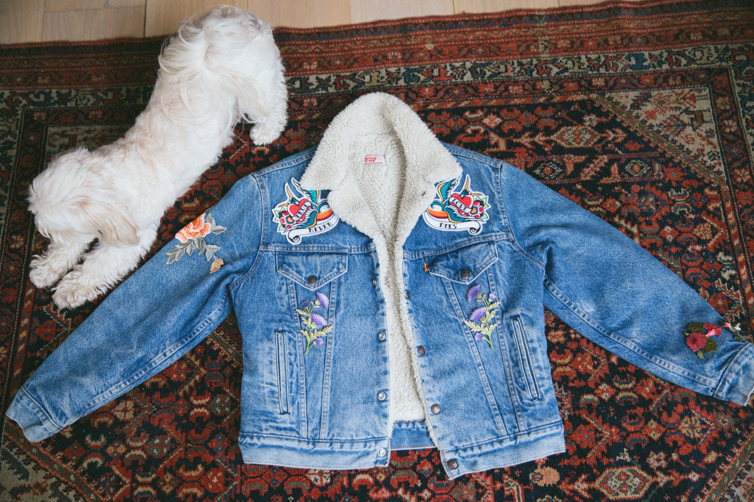 Vintage Levis Jacket Embroidered DIY