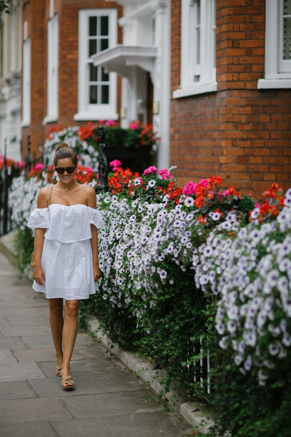Little white dress in London
