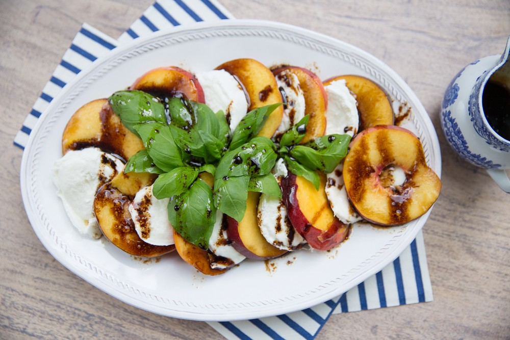Simple Peach Caprese Salad- a must try!