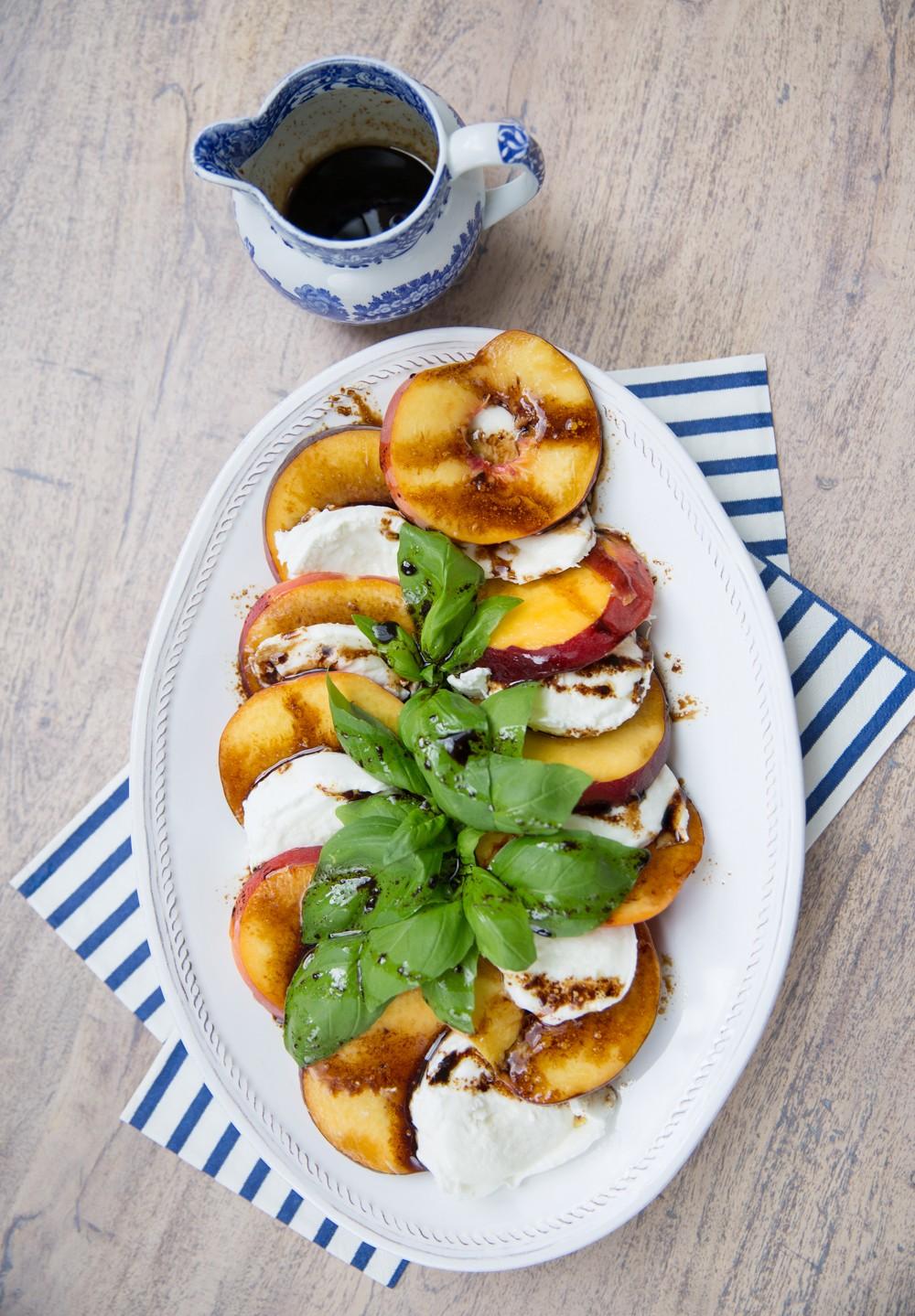 Peach Caprese Salad- Easily my favourite summer recipe!