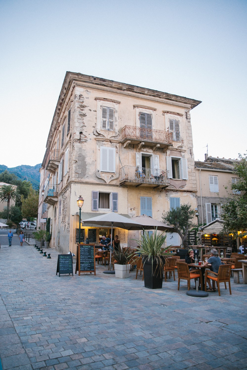 Old house in fishing village in Corsica
