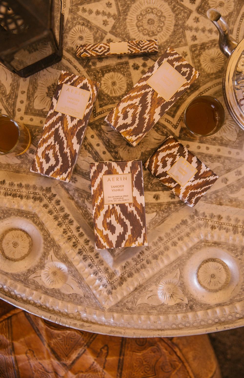 Mint tea and Aerin goodies