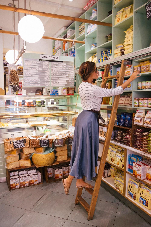 Shopping in Italian Deli in Soho, London
